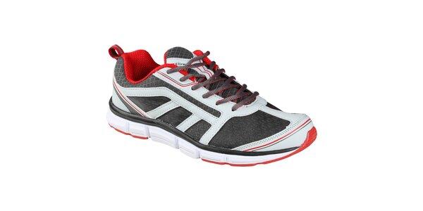 EXIray Doreti pánská tréninková obuv, šedo-bílo-červená