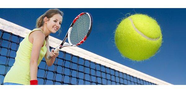 Hodinový pronájem tenisového kurtu až pro 4 hráče