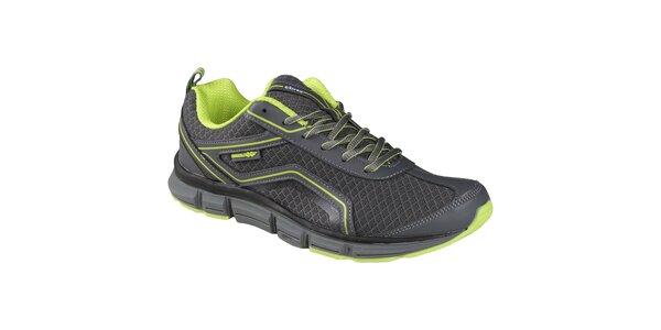 EXIray Entis pánská tréninková obuv, šedo-zelená