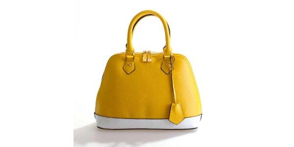 Dámská žluto-bílá kožená kabelka Belle&Bloom