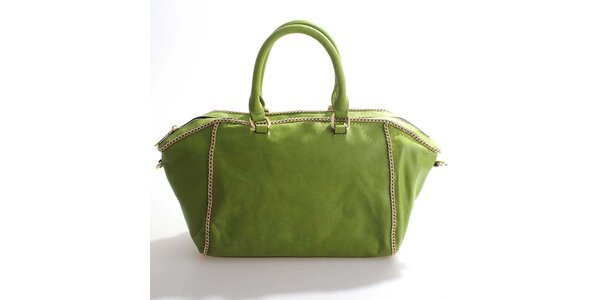 Dámská hráškově zelená kabelka Belle&Bloom