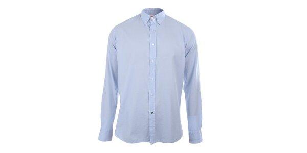 Pánská světle modrá košile s dlouhým rukávem A Fish Named Fred