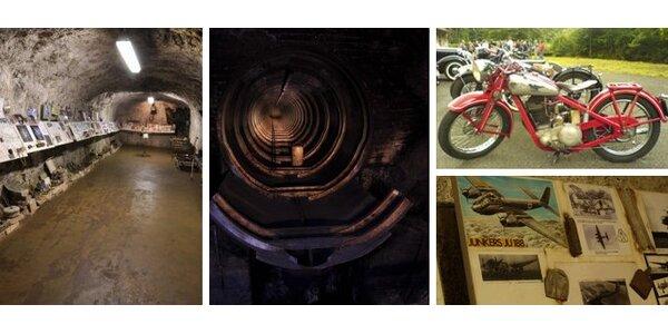 249 Kč za prohlídku tajné podzemní továrny z 2. světové války v Rabštejně.