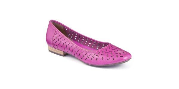 Dámské fuchsiově růžové baleríny Clarks