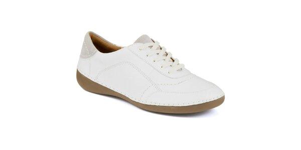 Dámské bílé kožené tenisky Clarks