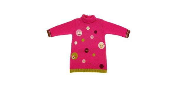 Dětský růžový svetřík Lullaby se zvířátky