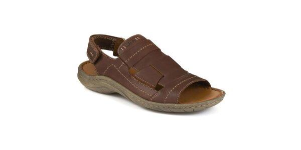 Pánské tmavě hnědé sandály Clarks