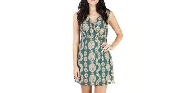 Dámské zelené šaty se vzorem Pepper Tree