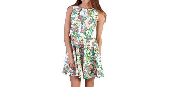 Dámské barevně vzorované šaty bez rukávů Pepper Tree