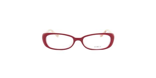Dámské červené obroučky se vzorovanými stranicemi Furla