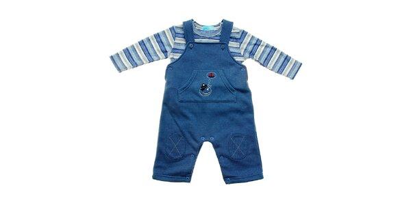 Dětská modrá souprava Lullaby - kalhotky a tričko