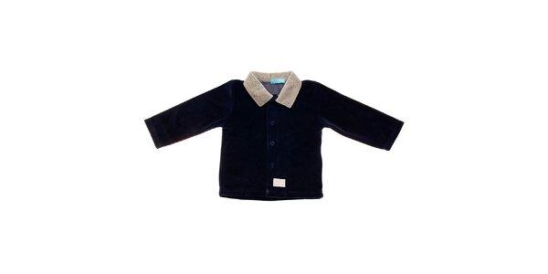 Dětský tmavě modrý manšestrový kabátek Lullaby