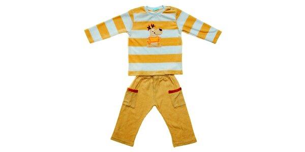 Dětská souprava Lullaby se sobem - kalhoty a tričko