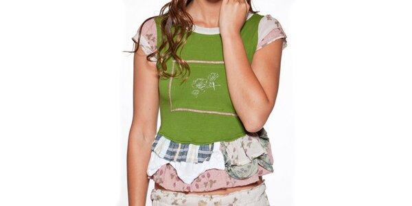 Dámské zelené tričko s kanýry Ian Mosh