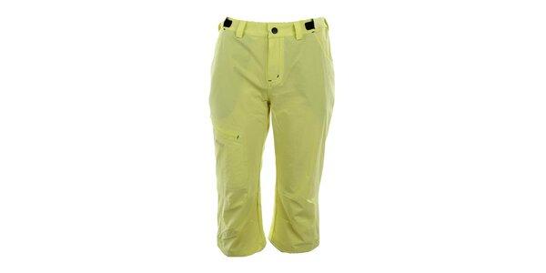Dámské žluté sportovní capri kalhoty Trimm