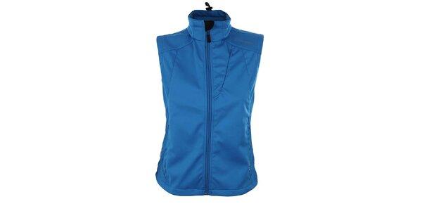 Dámská modrá softshellová vesta Trimm