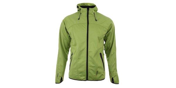 Pánská zelená softshellová bunda s kapucí Trimm