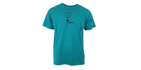 Pánské modré tričko s potiskem Trimm
