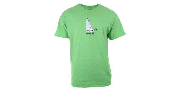 Pánské limetkové tričko s potiskem Trimm