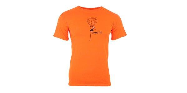 Pánské oranžové tričko s potiskem Trimm