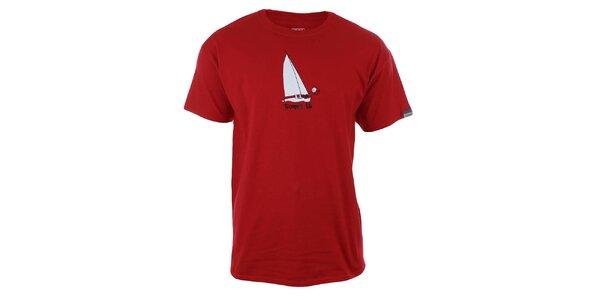 Pánské červené tričko s potiskem Trimm