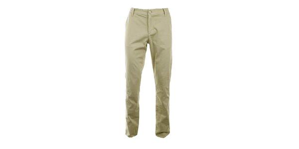 Pánské béžové slim chino kalhoty Monkee Genes