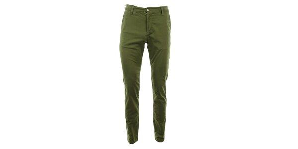 Dámské zelené slim chino kalhoty Monkee Genes