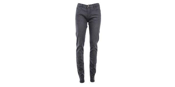 Dámské šedé denimové skinny kalhoty Monkee Genes