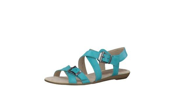 Dámské tyrkysové sandály Tamaris