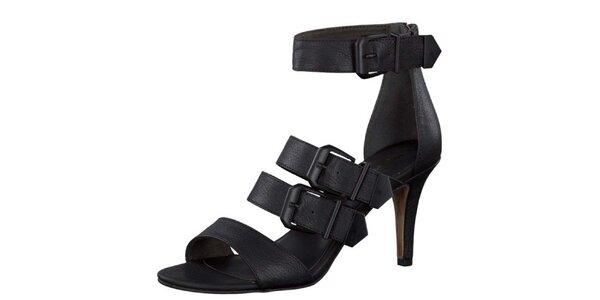Dámské černé sandály s přezkami Tamaris