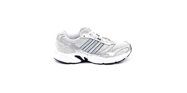 Pánské bílo-stříbrné tenisky Adidas