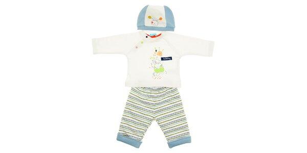 Dětská soupravička Lullaby - kalhotky, tričko a čepička