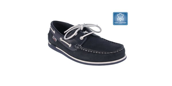 Pánské modré námořnické mokasíny Beppi