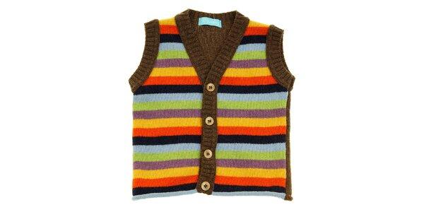 Dětská proužkovaná pletená vesta Lullaby