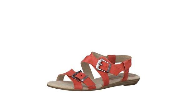 Dámské korálově červené sandály Tamaris