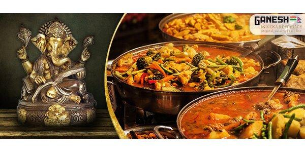Indické menu o 4 chodech pro dva v restauraci Ganesh