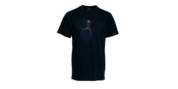 Pánské černé tričko Chico s potiskem