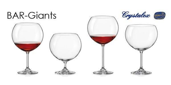 Skleničky na víno Crystalex Bar-Giants
