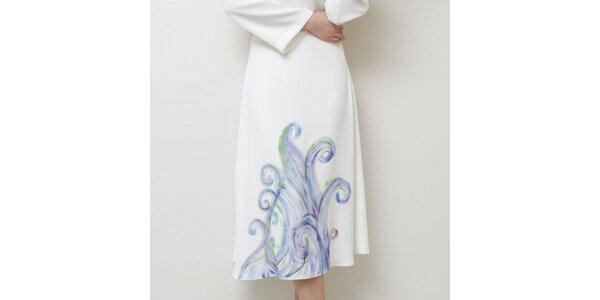 Dámská bílá sukně s jemným potiskem Mija