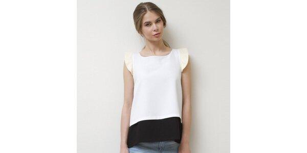 Dámský bílý top s rukávky Mija