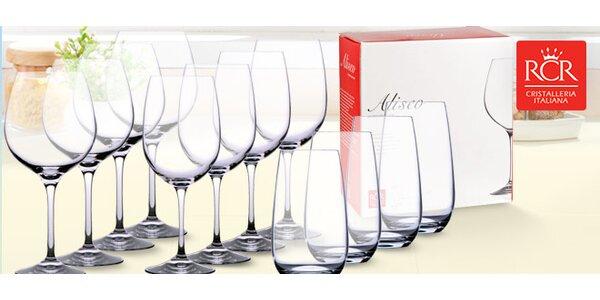 Sada 12 luxusních křišťálových sklenic RCR