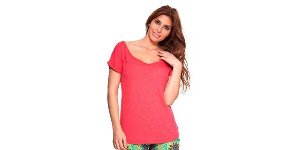 Dámské červené tričko s kulatým výstřihem Kool