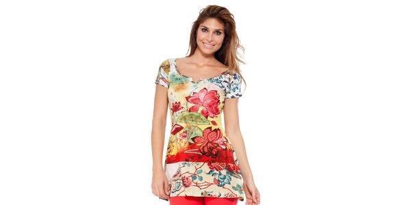 Dámská barevná tunika s květinovým vzorem Kool