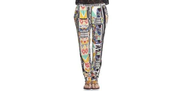 Dámské barevně vzorované letní kalhoty Kool