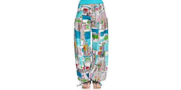 Dámské turecké kalhoty s městským potiskem Kool