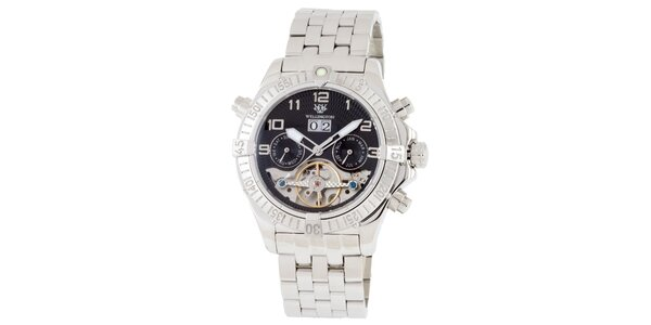 Pánské stříbrné hodinky Wellington