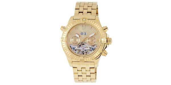 Pánské zlaté hodinky Wellington