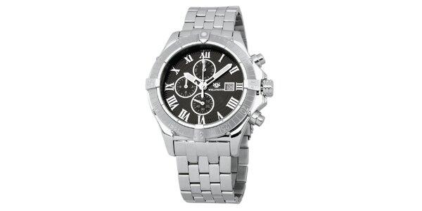 Pánské stříbrné hodinky s římskými číslicemi Wellington