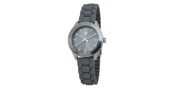 Dámské šedé hodinky se silikonovým řemínkem Wellington
