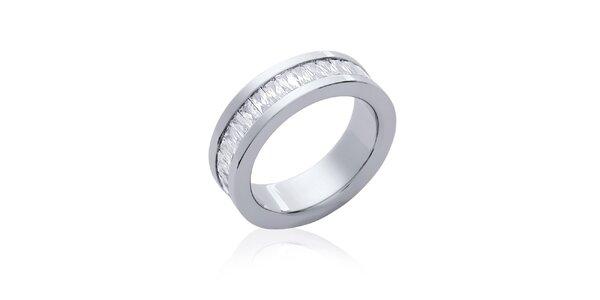 Dámský ocelový prstýnek se zirkony Fifi Ange